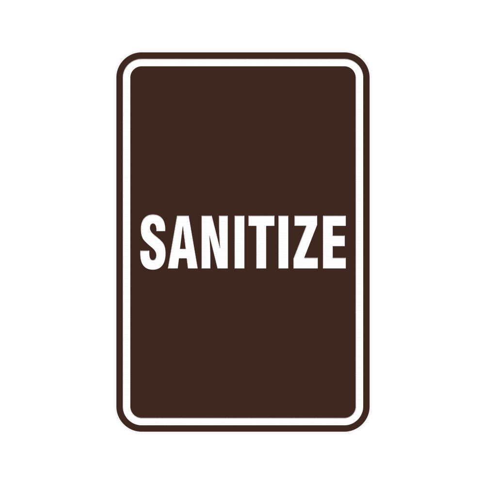 Portrait Round Sanitize Sign