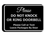 Signs ByLITA Classic Framed DO NOT KNOCK OR RING DOORBELL