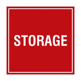 Red Signs ByLITA Square Storage Sign
