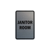 Portrait Round Janitor Room Sign with Adhesive Tape, Mounts On Any Surface, Weather Resistant