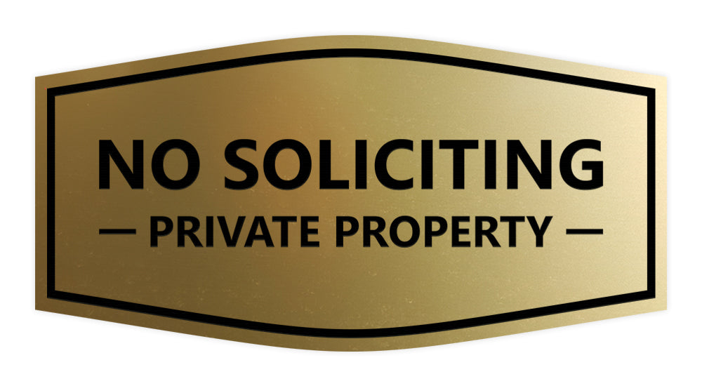 Signs ByLITA Fancy No Soliciting Private Property Sign