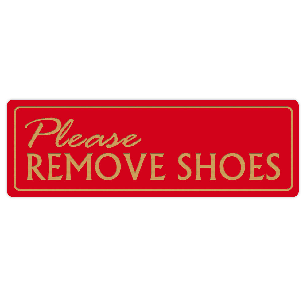 Basic PLEASE REMOVE SHOES Wall Door Sign