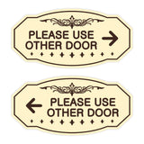 Victorian Please Use Other Door Sign Set