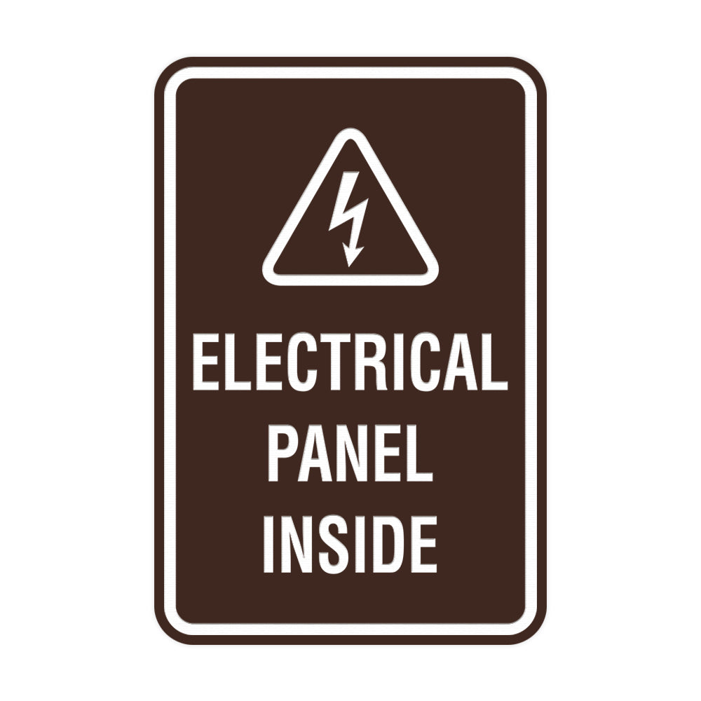 Portrait Round Electrical Panel Inside Sign