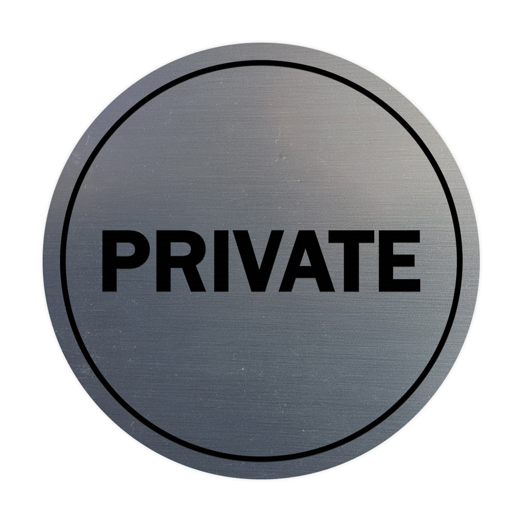 Circle PRIVATE Wall / Door Sign