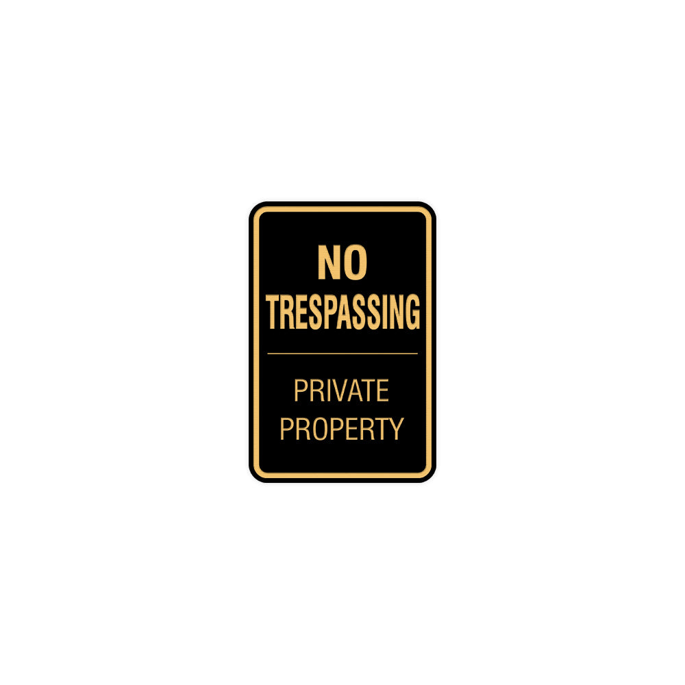 Signs ByLITA Portrait Round no trespassing private property Sign