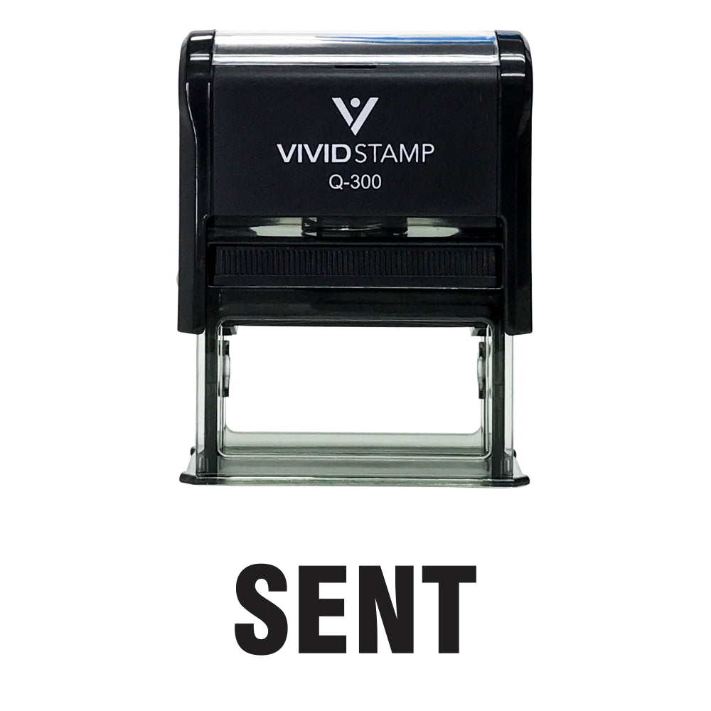 Black SENT Self Inking Rubber Stamp