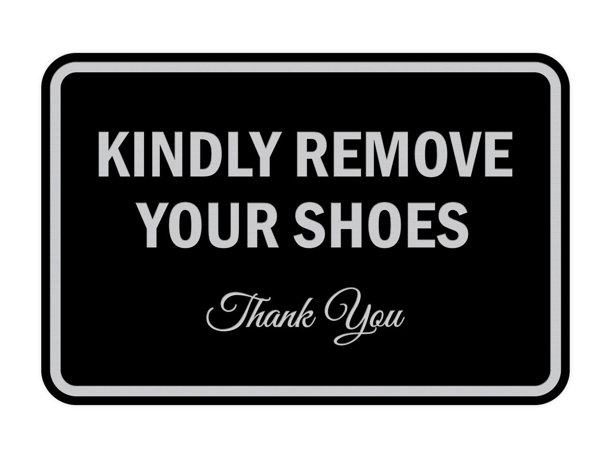 Signs ByLITA Classic Framed Kindly Remove Your Shoes