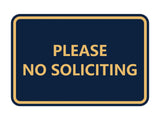 Signs ByLITA Classic Framed Please No Soliciting Sign
