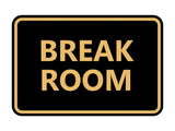 Signs ByLITA Classic Framed Break Room Sign
