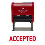 ACCEPTED Self Inking Rubber Stamp