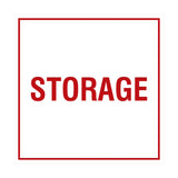White / Red Signs ByLITA Square Storage Sign