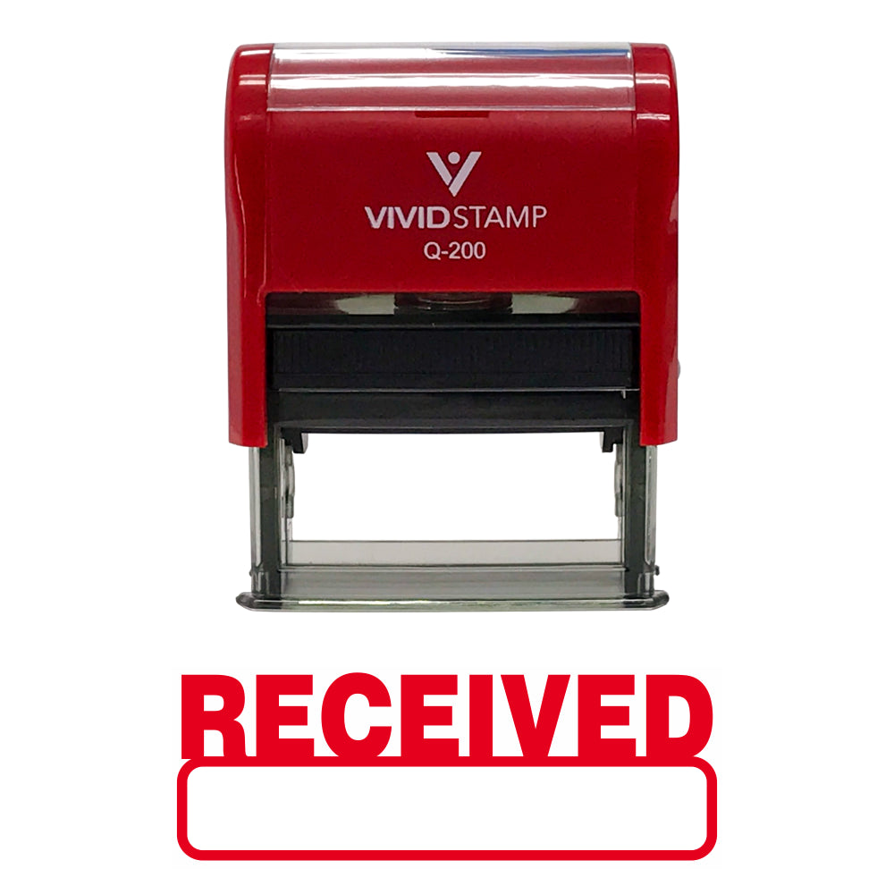Red Received Self-Inking Office Rubber Stamp