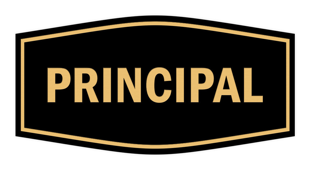 Signs ByLITA Fancy Principal Sign with Adhesive Tape, Mounts On Any Surface, Weather Resistant, Indoor/Outdoor Use