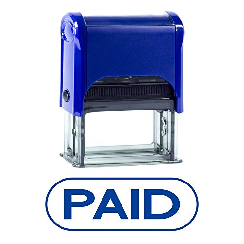 Paid Pill Shaped Self Inking Rubber Stamp