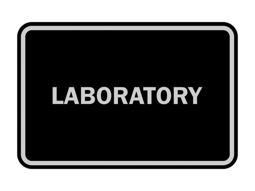 Signs ByLITA Classic Framed Laboratory Sign