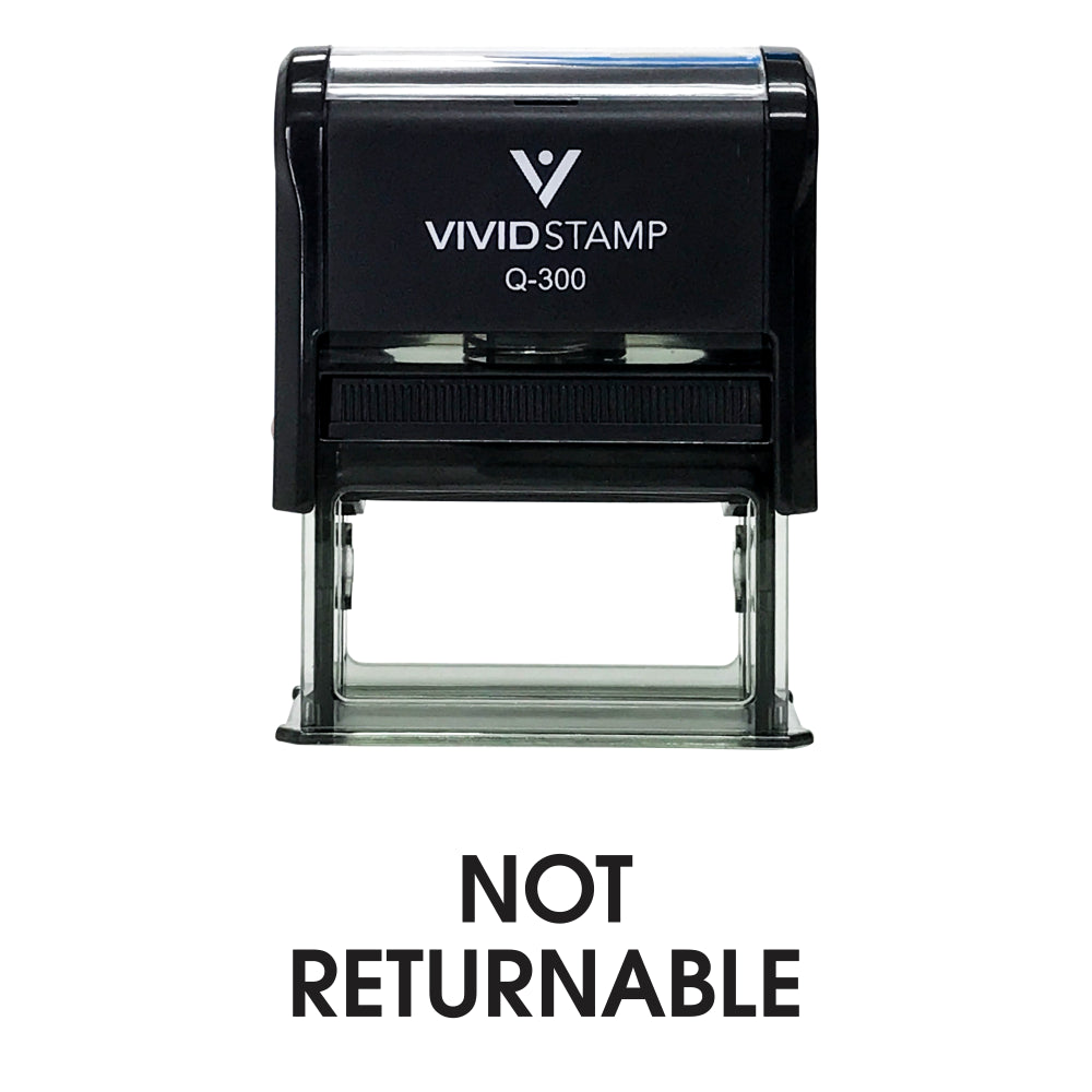 Not Returnable Office Self Inking Rubber Stamp