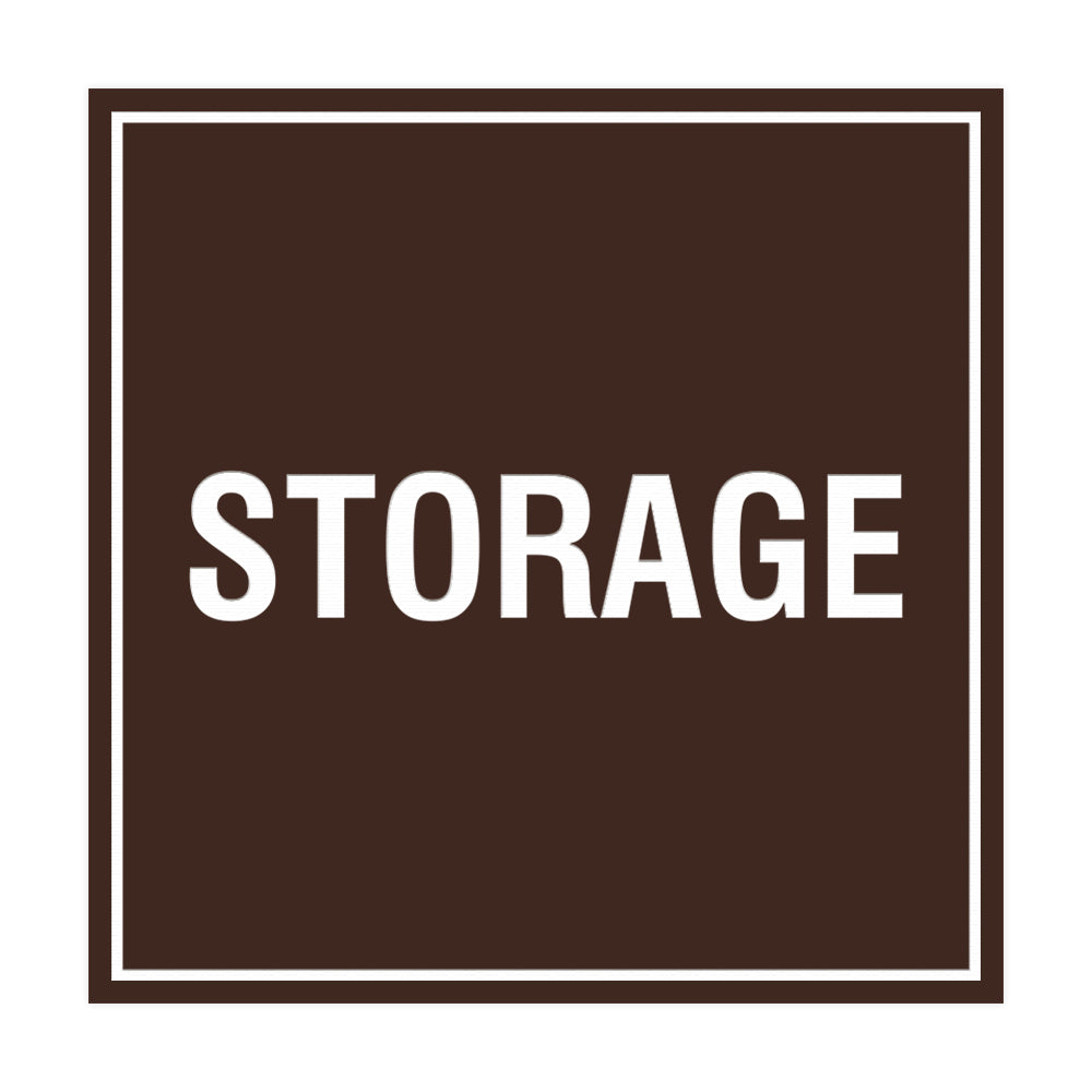 Dark Brown Signs ByLITA Square Storage Sign