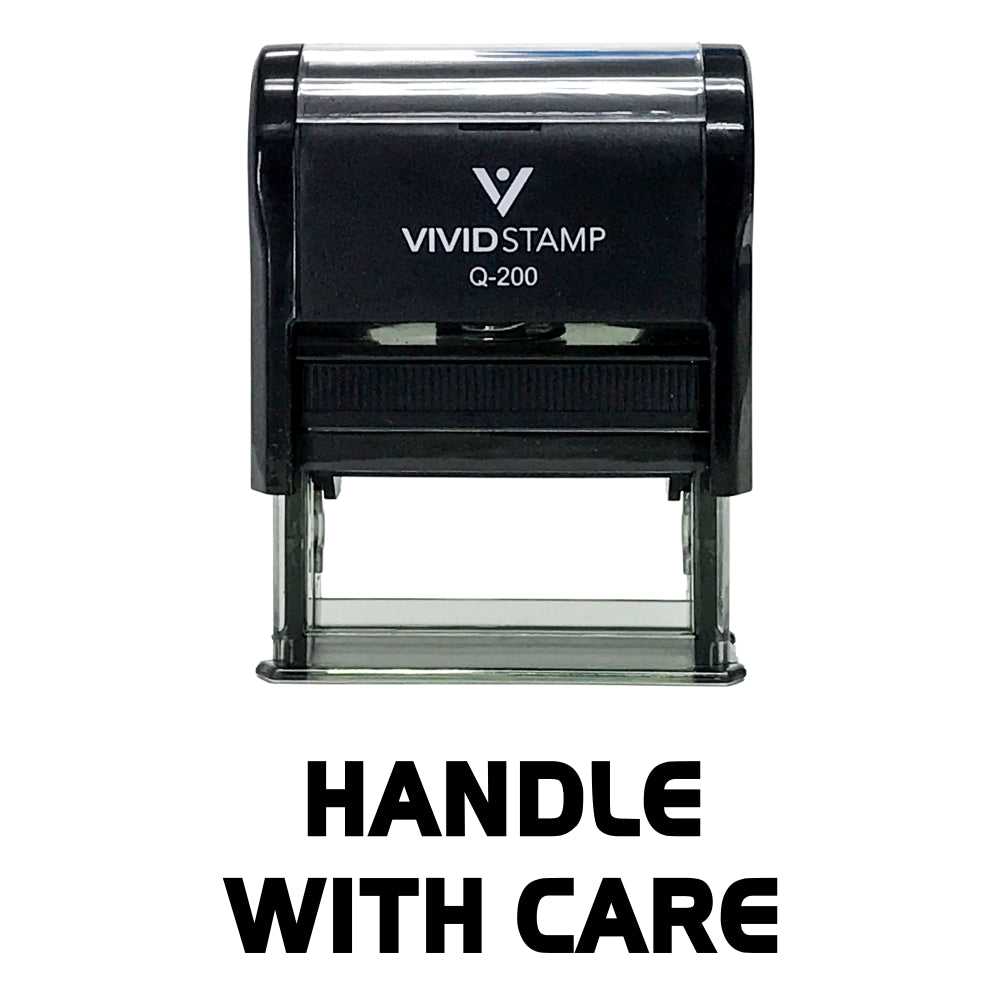 Handle With Care Self Inking Rubber Stamp