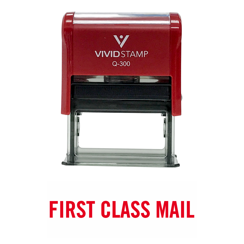 Basic First Class Mail Self Inking Rubber Stamp