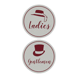 Signs ByLITA Circle Ladies and Gentlemen Sign Set