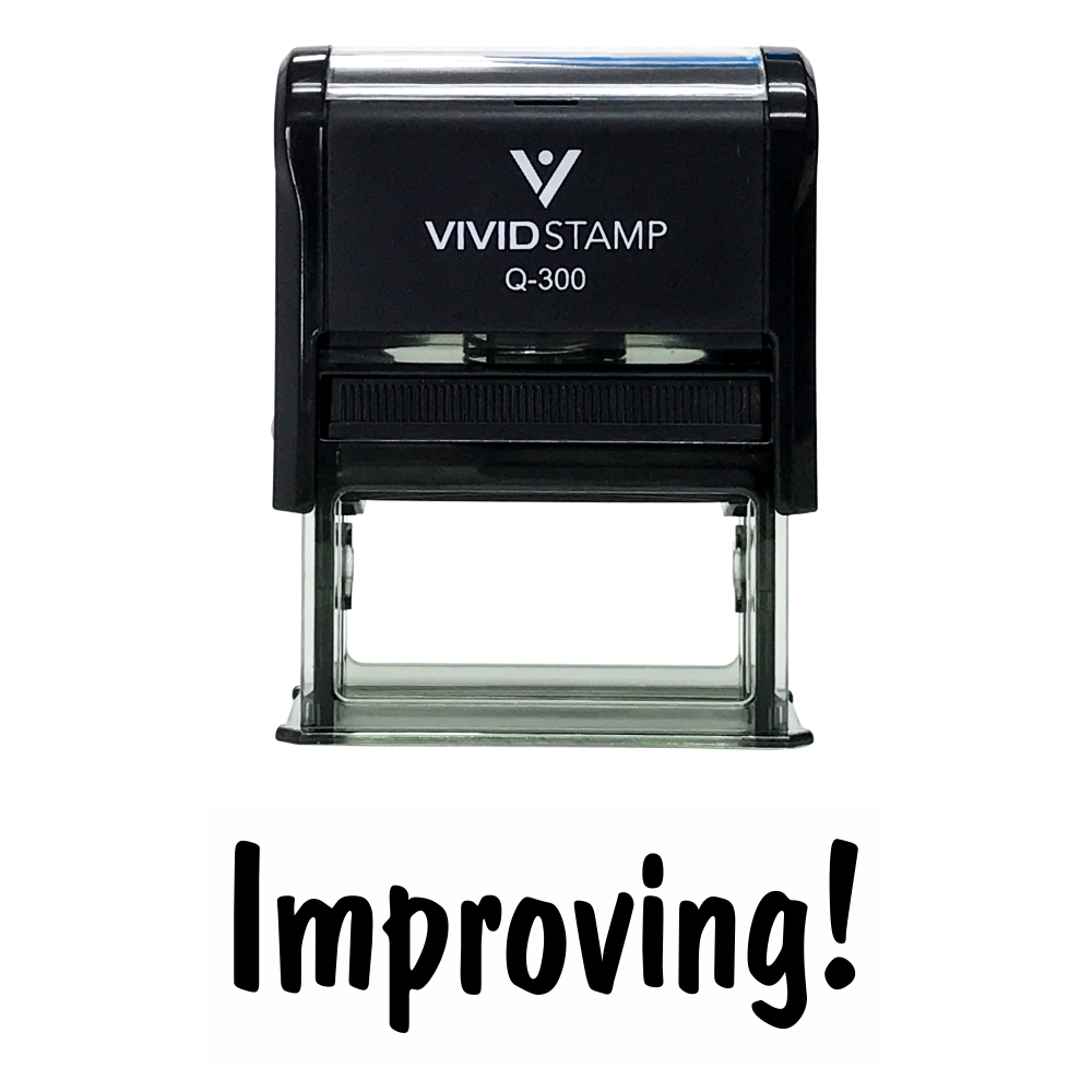 IMPROVING Teacher Self Inking Rubber Stamp