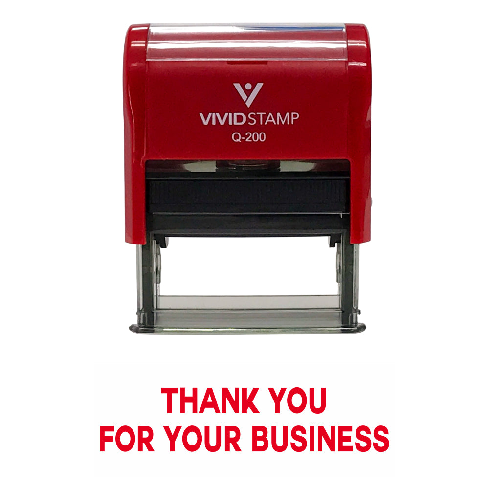 Red THANK YOU FOR YOUR BUSINESS Self Inking Rubber Stamp