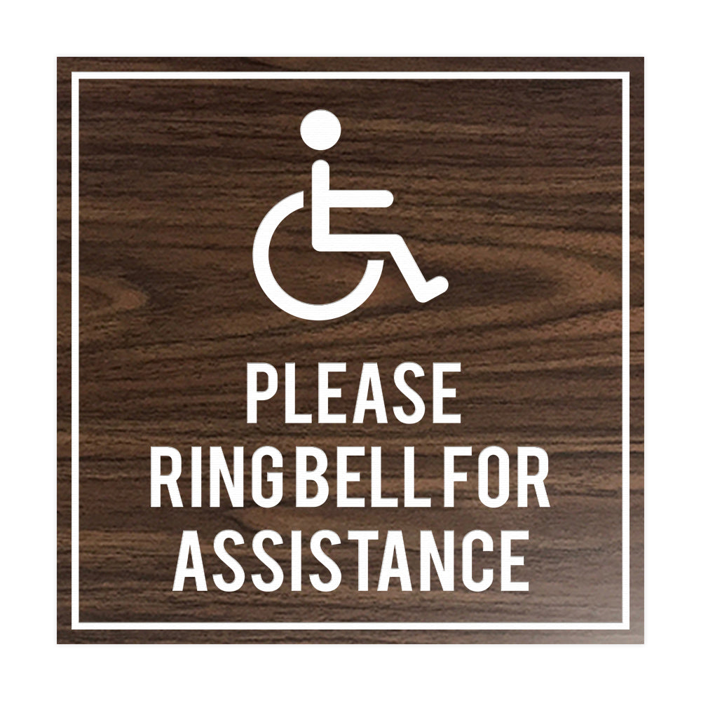 Signs ByLITA Square please ring bell for assistance Sign