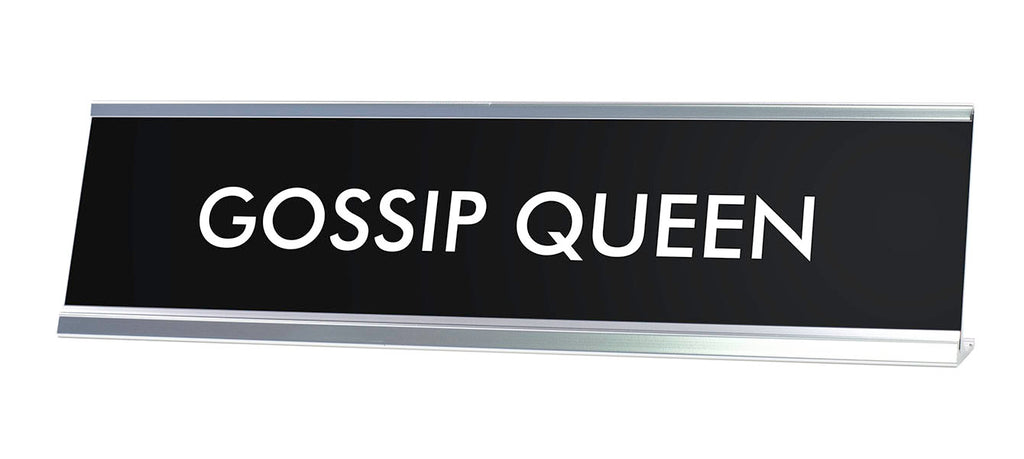 GOSSIP QUEEN Novelty Desk Sign