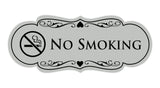 Signs ByLITA Designer No Smoking Sign