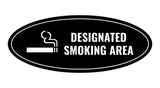 Signs ByLITA Oval Designated Smoking Area Sign