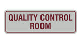 Standard Quality Control Room Sign