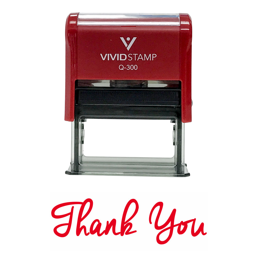 Red THANK YOU Self-Inking Rubber Stamp