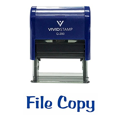 File Copy Self-Inking Office Rubber Stamp