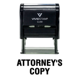 Attorney's Copy Self Inking Rubber Stamp