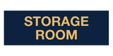 Navy Blue / Gold Signs ByLITA Basic Storage Room