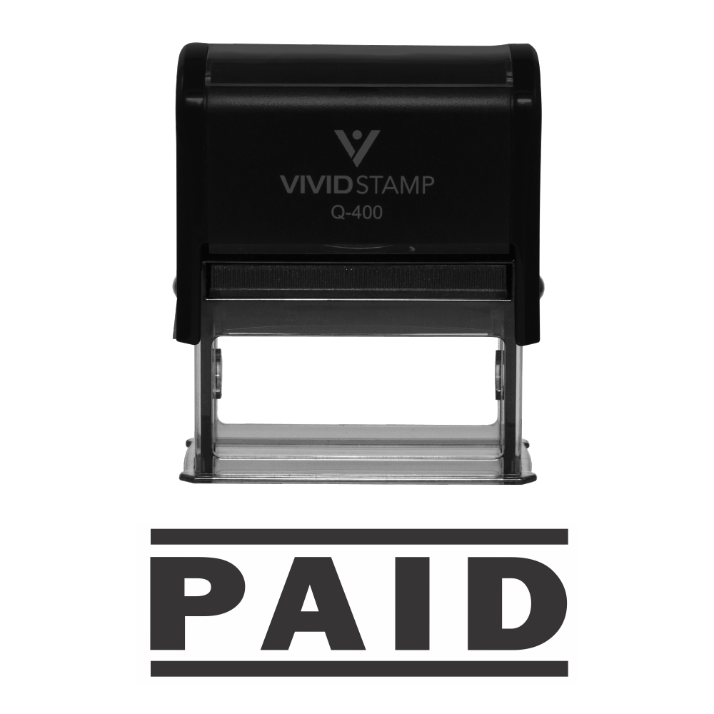 Paid Self Inking Rubber Stamp