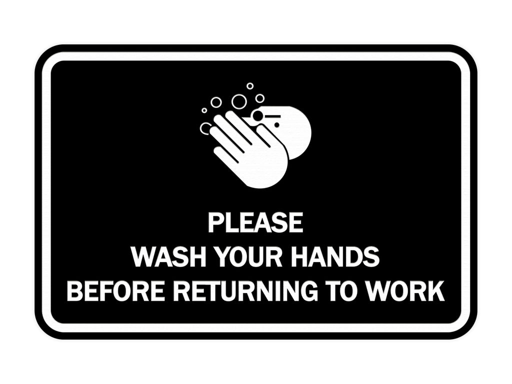 Signs ByLITA Classic Framed Please Wash Your Hands Sign