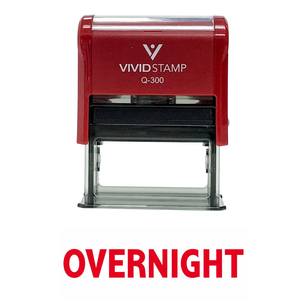 Overnight Self Inking Rubber Stamp