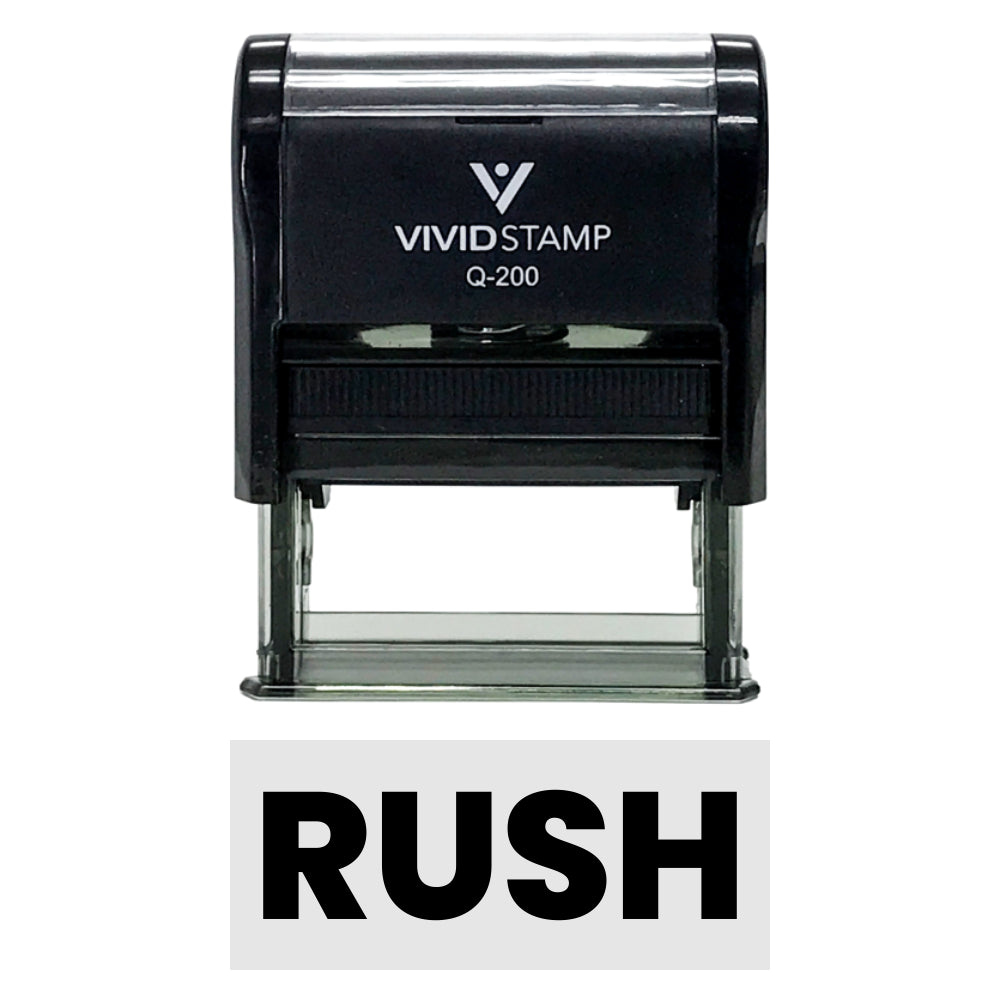 RUSH Self-Inking Office Rubber Stamp