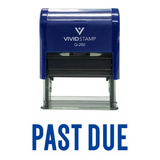 "Blue ""PAST DUE"" Self Inking Rubber Stamp"