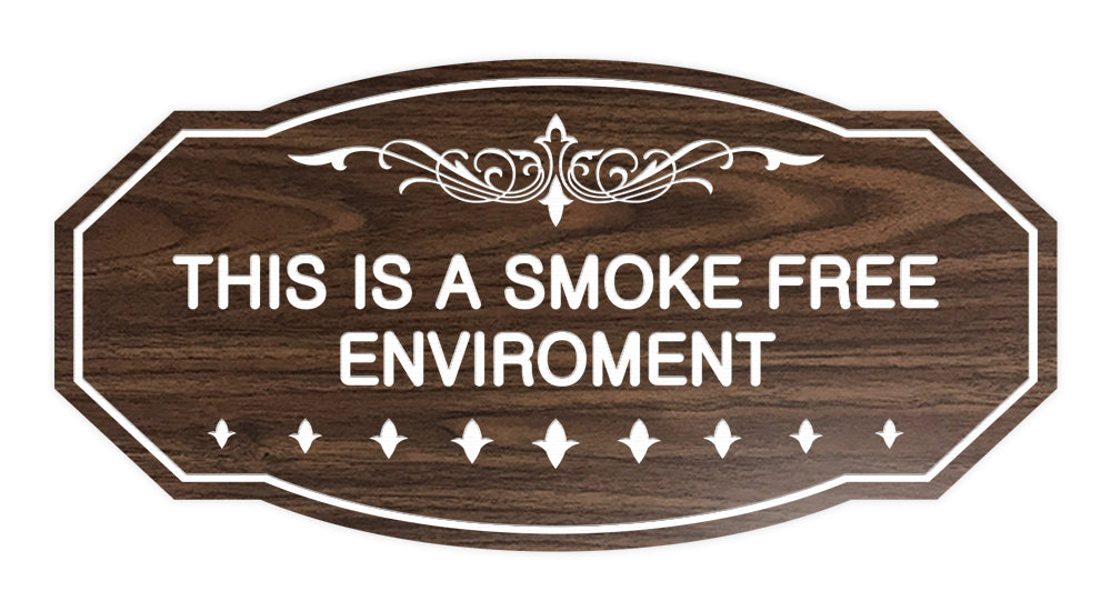Victorian This Is A Smoke Free Environment Sign