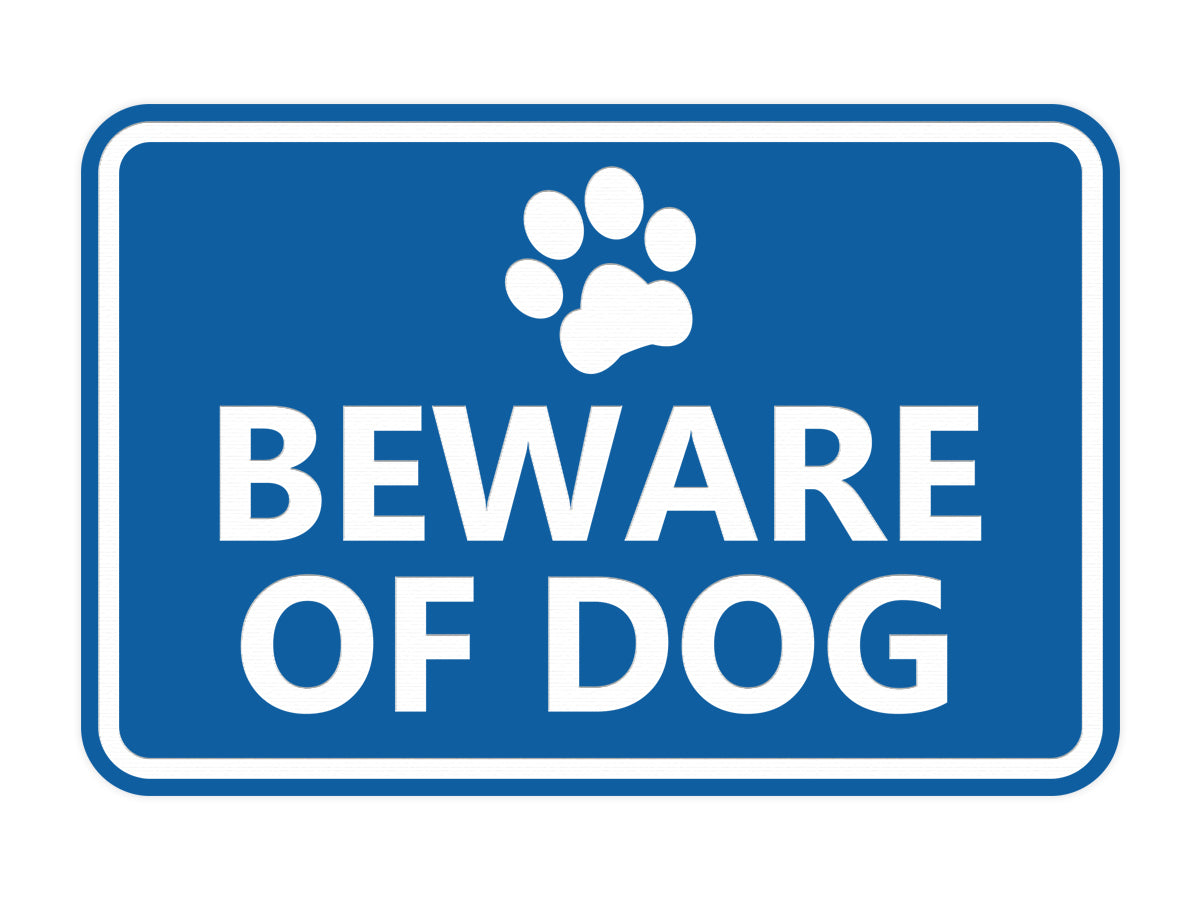 Signs ByLITA Classic Framed Beware of Dog Sign