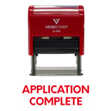 APPLICATION COMPLETE Self Inking Rubber Stamp