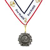 2nd Place Ten Star Silver Medal Award - Includes Ribbon