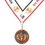 3rd Place Victory Bronze Medal Award - Includes Ribbon