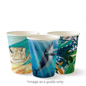 8oz BioCup Art Series – Single Wall Cups - 1000 Per Box
