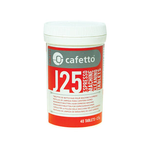 Cafetto J25 Automatic Machine Cleaning Tablets - Jar of 40