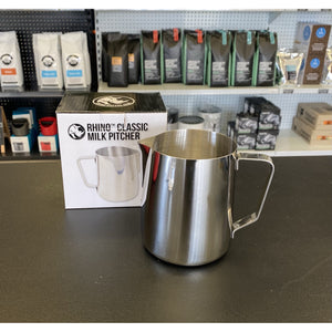Rhinowares Classic Milk Pitcher - 950ml/32oz - Stainless