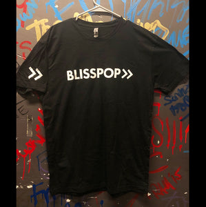 Blisspop - Black Tee with Sleeve Logo